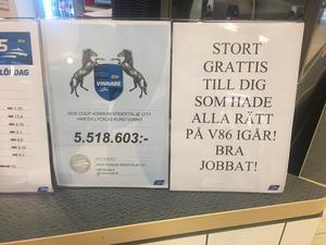 Diplomet som bekräftar att butiken tagit emot vinstspelet.