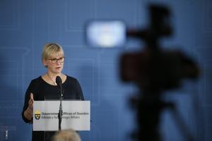 Utrikesminister Margot Wallström håller presskonferens på UD om kärnvapen. Arkivfoto: Fredrik Persson / TT