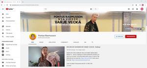 Rasmussons kanal på Youtube har 95 000 prenumeranter.