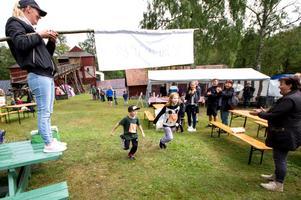 Barnloppet var en av flera aktiviteter som riktar in sig just mot barnen. Alla deltagare fick en Festis efteråt.