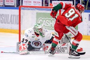Målvakten Johan Gustafsson var en av Frölundas bästa spelare.Foto: Daniel Eriksson/Bildbyrån