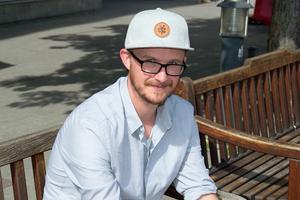 Mathias Edbäck Leo, lokal representant från organisationen MÄN: