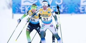 Charlotte Kalla under förra helgens världscuptävlingar i Beitostölen. Men inför helgens tävlingar dyker hon inte upp, på grund av sjukdom.