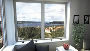 Utsikt från Östersundshems senaste bygge, höghuset i Valhall.