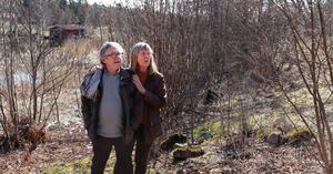 Jerker Persson och Lena Svenonius är engagerade i den 60-årsjubilerande hembygdsföreningen.