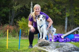 Fanny och Naldo, som är en miniature american shepherd, är ett sammansvetsat team sedan fem år tillbaka.