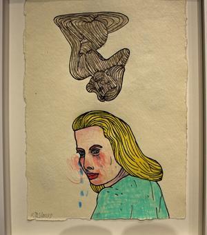 En typisk teckning av John Rasimus.
