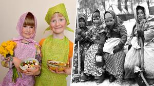 Nu och då – påskkärringarna har en lång historia. Bild: Jonas Ekströmer, Arne Schweitz/TT
