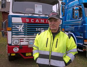 Anders Södersjön från Dalarna kom till lastbilsträffen med sin Scania från 1975.
