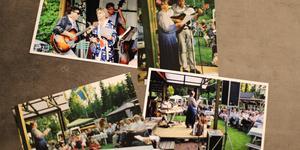 En samling fotografier från tidigare konserter som Inger Kragten har samlat på sig genom åren.