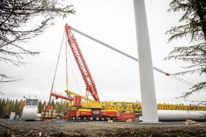 Ett av de senaste vindkraftbyggena i Jämtland, Åskälen. Statkraft äger de stora parkerna i Östjämtland.