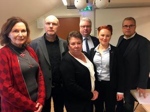 Agneta Åhs Sivertsen (C), Pär Kindlund (C), Lilian Olsson (S), Hans Unander (S), Jessica Hellström (L) och Thomas Ericsson (L) säger nej till en rådgivande folkomröstning.