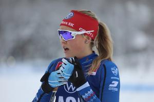 Lina Rydén efter segern i lördags distanslopp.