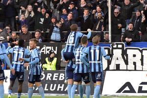 Djurgården var överlägset och besegrade ÖSK med 3–0. Bild: Conny Sillén/TT.