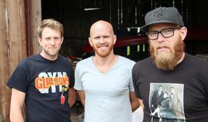 Hannes Lundin, Martin Lith och Erik Lith driver möbeltillverkaren Lith Lith Lundin i Torsåker.