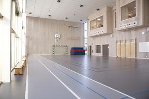 Widénska gymnasiet. Testcenter med en 47 meter lång löparbana.