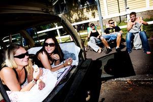 2008. Olaglig camping och parkeringsplats under festivalen. Foto: Karin Richardsson