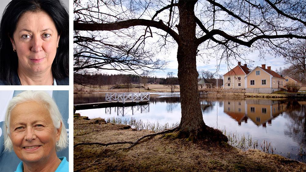 Moderaterna Lotta Olsson (överst) och Ylva von Sheele skriver om vikten av att tolka om EU:s vattendirektiv. I Brevens bruk finns en hotad dammanläggning som spelat en stor roll i svensk industrihistoria.