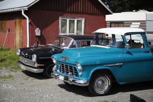 En Chevrolet hade smugit sig in bland de europeiska bilarna.