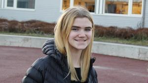 Agnes Simonsson tycker det ska bli roligt att träffa nya skolkamrater i Danmark.