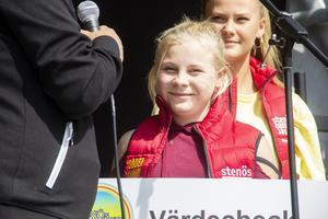 Linn Hedqvist visste inget om att hon skulle få ett stipendium när hon besökte Stenö den här dagen.
