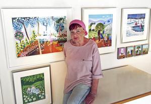 Konstnären Marion Belin har målat det nya verkets motiv.