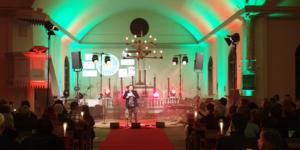I onsdagskväll hölls en välgörenhetskonsert i kyrkan på Sätra Brunn i förmån för Musikhjälpen. Foto: Läsarbild