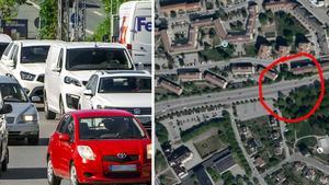 Montage. Foto: Claudio Bresciani/TT, Google Maps.  Här får Södertälje en egen getingmidja.