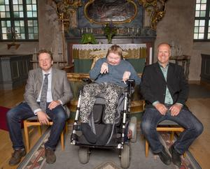 Sittande från vänster: Ove Häggkvist 1989, Ing-Mari Månsson 1989 och Lasse Eriksson 1979. Foto: Anders Nilsson