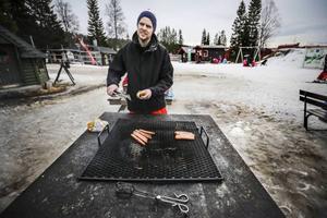 Clas Johansson har åkt från Helsingborg för att få uppleva lite vinter i Åre.