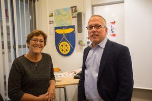Nykvarnsanda, aktivt föreningsliv och en nära relation till väljarna – det är guldkanterna som utgör kommunen, tycker Märtha Dahlberg och Cenneth Åhlund.