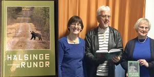 Tre av årets redaktörer av Hälsingerunor: Anne Brügge, Jan-Eric Berger och Elvi Sandberg. Privat bild