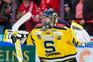 Alexander Sahlin i SSK:s kasse hade en stor del i segern mot Kristianstad.  Bild: Jonas Ljungdahl, bildbyrån.