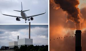 Debattören synar krav på att EU ska beskatta flyget, bygga ut kärnkraften eller ha en gemensam koldioxidskatt. Foto: TT