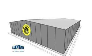 Så här menar klubben att hallen, som ska stå klar till elitseriepremiären i höst, ska se ut. Bild: Åby/Tjureda