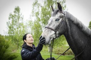 Gaby Yong Shing och hästen Mauritius hade framgångar på 3-årstestet i Högbo.