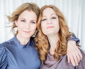 Helen Sjöholm och Anna Stadling. Foto: Pressbild
