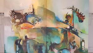 Konstverk av Hanna Al-Haek.