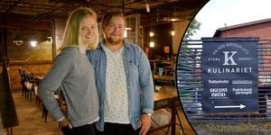 Emma Bergqvist och Linus Andersson från Säter tar nu över driften av restaurangen i Kulinariet i Stora Skedvi.