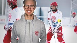 Söråkers kapten Filip Nyberg dundrade in 65 mål i bandyettan den här säsongen. Tio fler än någon annan spelare i Sveriges sex divison I-serier.