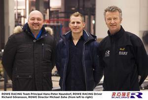 Rowe racings team principal Hans-Peter Naundorf, Richard Göransson och Rowes chef Michael Zehe.