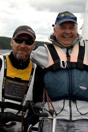 Kristoffer Harmark och hans gast Arne Kappinen ligger på en andraplats.
