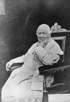 Pius IX var den förste påven som blev fotograferad. Bilden är tagen 1878 av okänd fotograf.