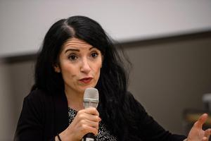 Amineh Kakabaveh, motarbetad av Vänsterpartiets ledning.