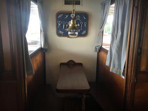 Lilla rummet där bara två kan sitta. Ligger längst bort i en av matsalarna på övre däck.
