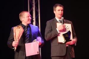 Årets företagare, Fredrik Persson (t.h.) tillsammans med kollegan Adrian Lindström.