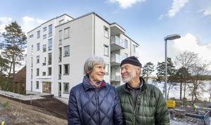 Leif och Barbro Zäll ser fram emot att få flytta in i sitt nyproducerade boende i Brf Sjöparken.