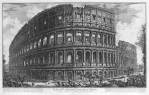 Giovanni Battista Piranesis skildring av Colosseum från 1757.