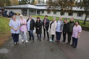 En stor del av personalen på Säfsgården fick på onsdagen möta vård- och omsorgsnämndens ordförande och förvaltningschefen. (Bilden från tidningens besök på Säfsgården den 14 oktober)