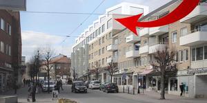 Här ska det för första gången i Nynäshamn byggas radhus på taket på ett befintligt bostadshus.
